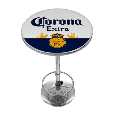 Corona Chrome Pub Table - Label Design