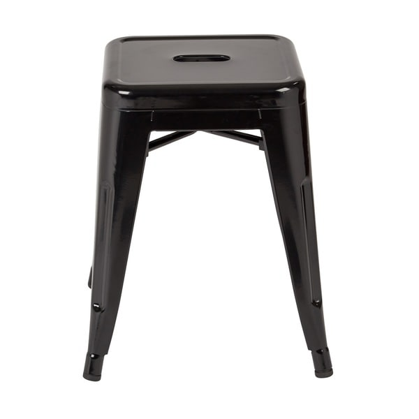 18 Inch Fully Assembled Metal Backless Stool Set Of 4