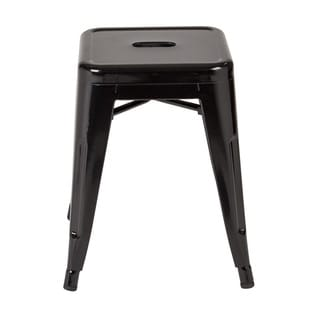 The Gray Barn Arbakka Metal Backless Stool (Set of 4)