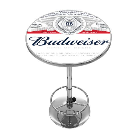 Budweiser Chrome Pub Table - Label Design