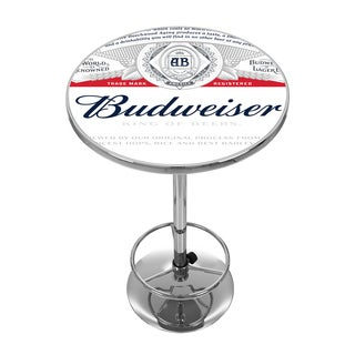 Budweiser Chrome Pub Table - Label Design