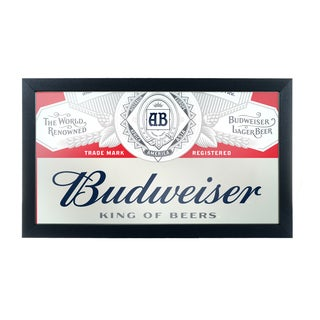 Budweiser Framed Logo Mirror - Label Design
