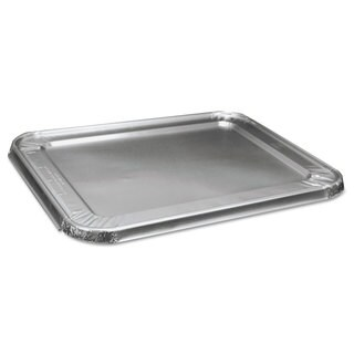 Boardwalk Half Size Steam Table Aluminum Pan Lid For Deep Pans (Pack of 100)