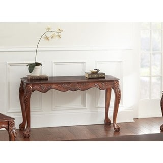LYKE Home Sunday Cherry Finish Sofa Table