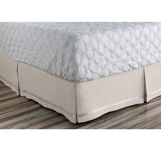 Abdiel Geometric Linen/Polyester Bed Skirt