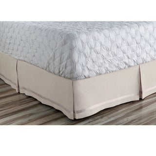 Abdiel Geometric Linen/Polyester Bed Skirt (More options available)