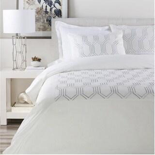 Peyton Geometric Cotton Duvet Cover