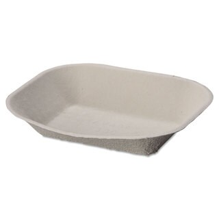 Chinet Savaday Beige Molded Fiber Food Tray (2 Packs of 250 Trays)