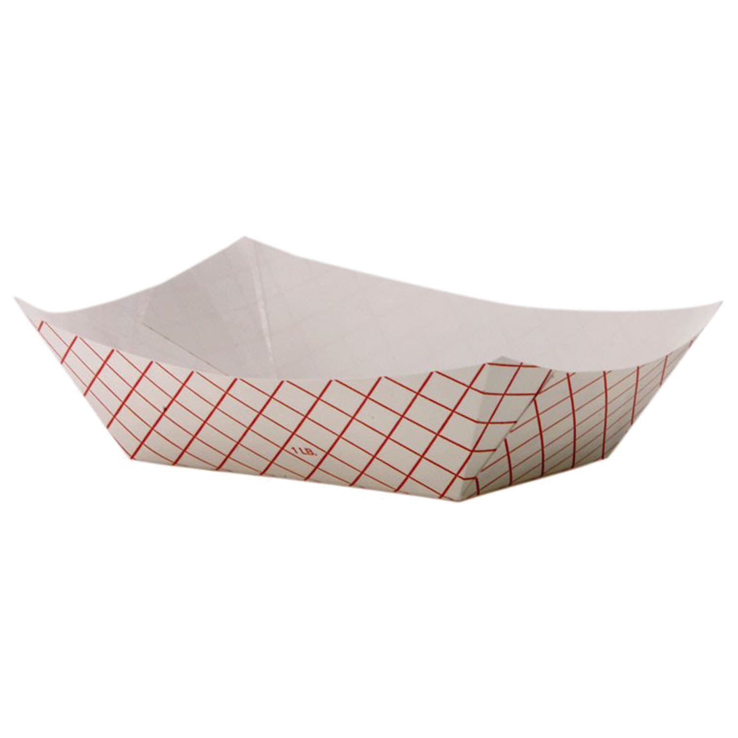DIXIE Kant Leek Polycoated Red Plaid Paper Food Tray (Pac...