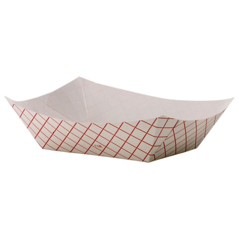 Dixie Kant Leek Polycoated Red Plaid Paper Food Tray (Pack of 1000)