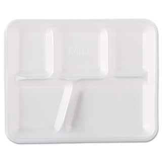 Genpak White Foam School Trays (Pack of 500)