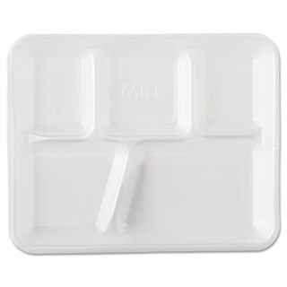 Genpak White Foam School Trays (Pack of 500)