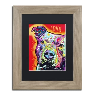Pitbull Wall Art dean russo 'thoughtful pitbull' framed matted art - free shipping