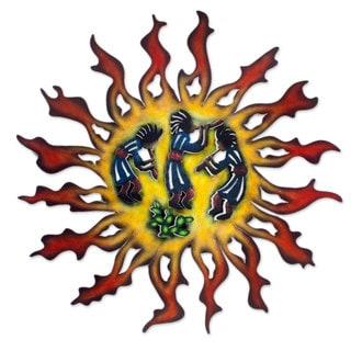Handmade Steel 'Sun Dancers' Wall Art (Mexico)