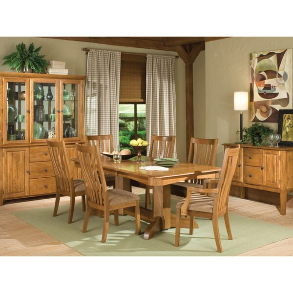 Highland Park 7 Piece Oak Dining Set Free Shipping Today Overstock