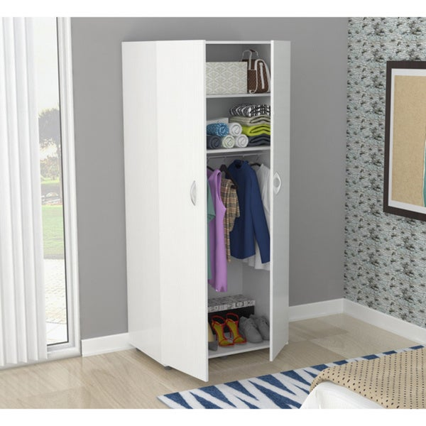 Inval Laricina White 2 Door Armoire