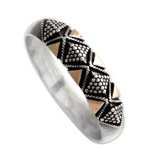 Handmade Gold Overlay 'Golden Garden' Ring (Indonesia)