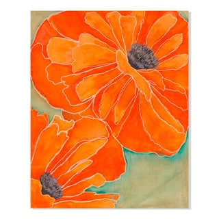 Gallery Direct Wild Poppy in Tangerine II Print by Laura Gunn on Birchwood Wall Art
