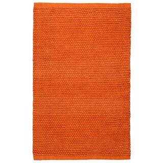 Plush Nubby Orange 30 x 50 inch Bath Rug