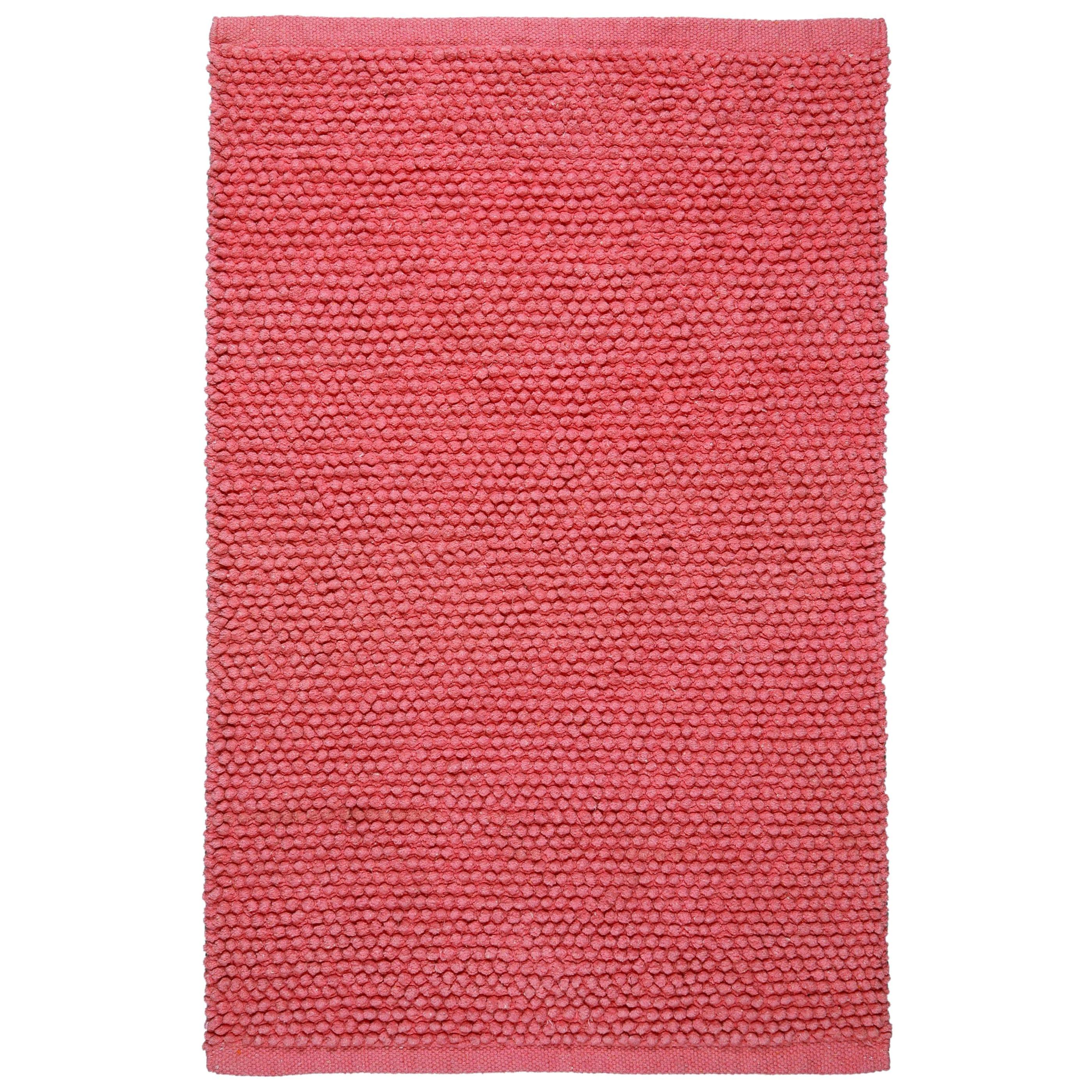 Shop Carousel Plush Nubby Pink Bath Rug 2 6 X 4 2 Overstock 10676940