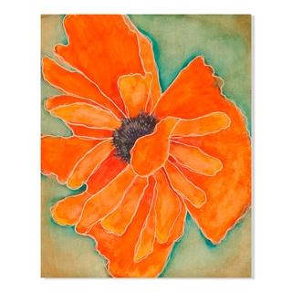 Gallery Direct Wild Poppy in Tangerine I Print by Laura Gunn on Birchwood Wall Art