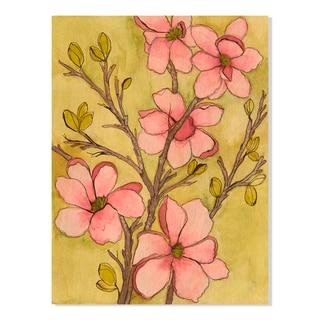 Gallery Direct Magnolia Branch in Spice Print by Laura Gunn on Birchwood Wall Art