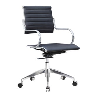 Fine Mod Flees Mid-Back Stainless Steel Office Chair