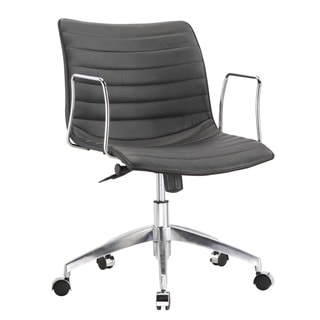 Fine Mod Black Mid-Back Office Chair
