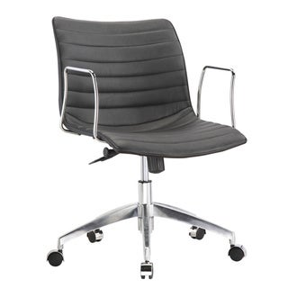 Fine Mod Black Mid Back Office Chair