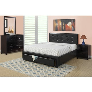 Pomichna 4-piece Black Bedroom Set