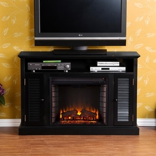 Harper Blvd Herschel Black Media Electric Fireplace