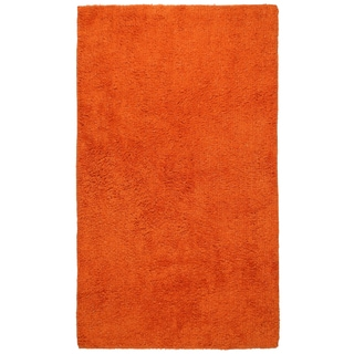 "Plush Pile Orange Bath Rug (30"" x 50"")"