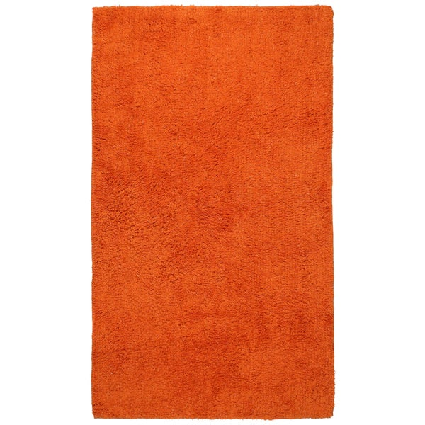 Shop Plush Pile Orange Bath Rug 30 X 50 30 X 50 Free