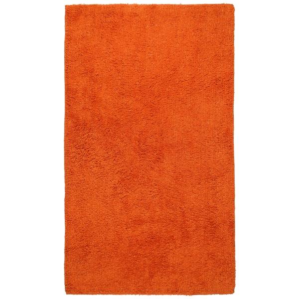 "Shop Plush Pile Orange Bath Rug (30"" x 50"") - 30 x 50 ..."