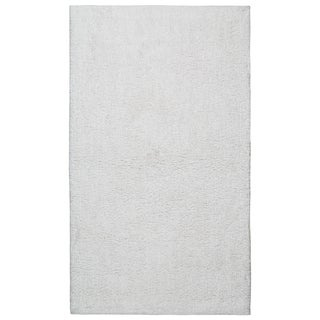 Plush Pile White Bath Rug