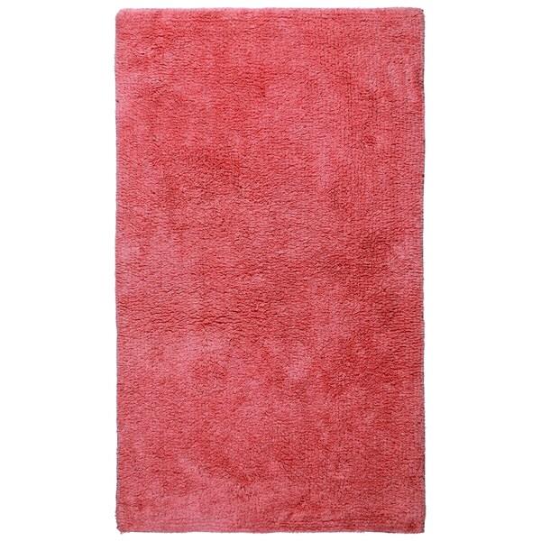 Plush Pile Pink 50-inch Bath Rug