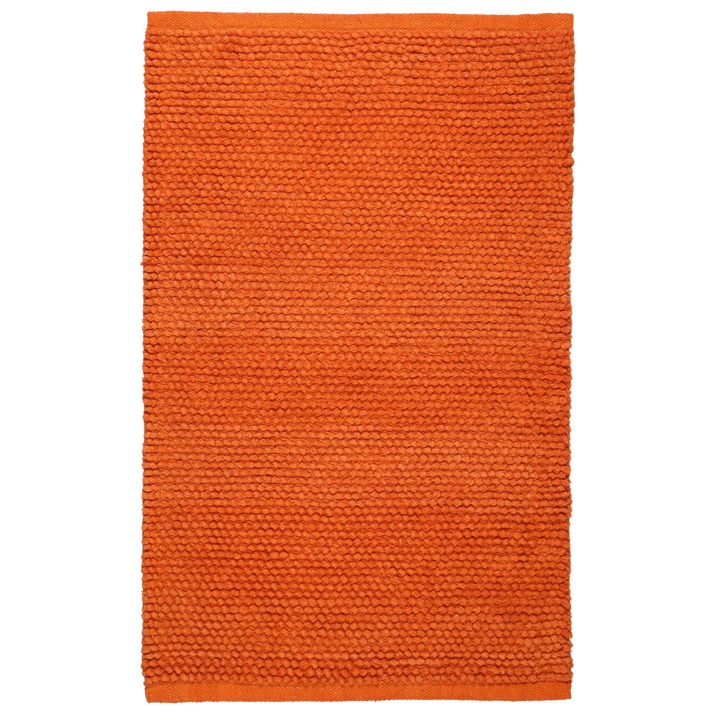 Plush Nubby Orange 21 X 34 Inch Bath Rug 1 9 2 10