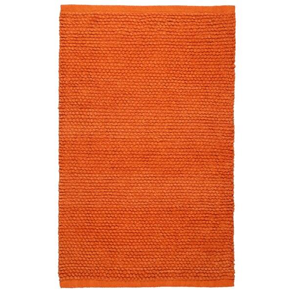 Plush Nubby Orange 21 x 34 Inch Bath Rug