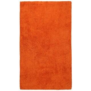 Plush Pile Orange 21 x 34 inch Bath Rug