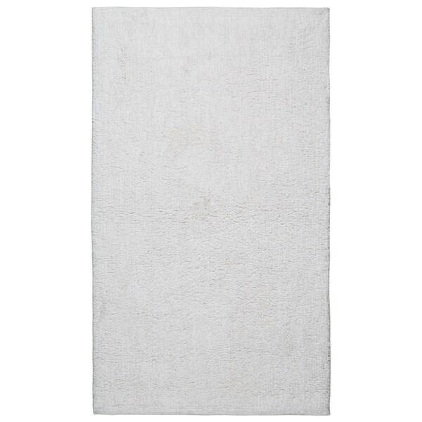 Plush Pile White 21 x 34-inch Bath Rug