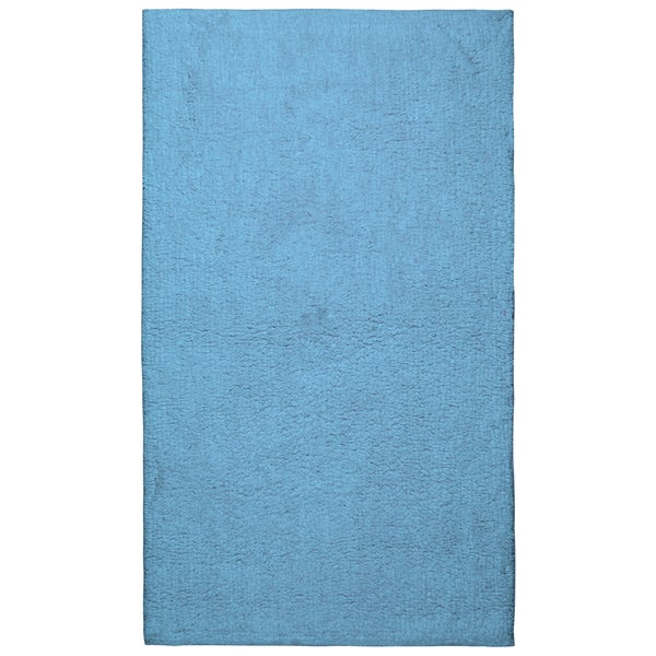 Plush Pile Light Blue 21 x 34 inch Bath Rug  Free Shipping On Orders