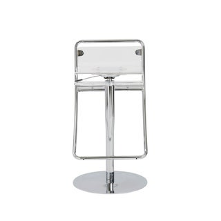Angelita Clear Acrylic/ Chrome Bar/ Counter Stool