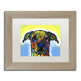 Dean Russo 'Fiesta' White Matte, Birch Framed Wall Art