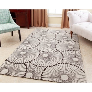 ABBYSON LIVING Hand-tufted Tessa Brown New Zealand Wool Rug (8' x 10')