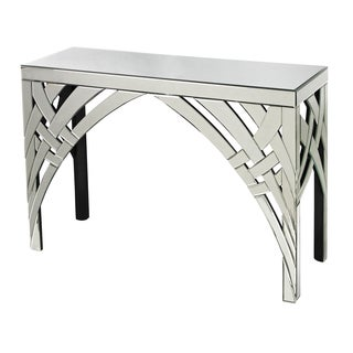 Mirrored console accent table 14311731 shopping great deals on coffee sofa - Mirrored console table overstock ...