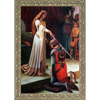 Edmund Blair Leighton 'The Accolade, 1901' Hand Painted Framed Canvas Art