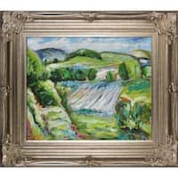 Alfred Henry Maurer 'Fields' Hand Painted Framed Canvas Art