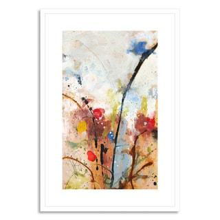 Gallery Direct Fraser, Katherine 'Flamingos Gather' Framed Paper Art