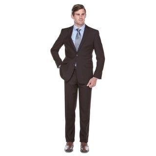 Verno De Palma Men's Brown Classic Fit Italian Styled Two-piece Suit