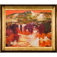 Alex Bertaina 'Provence Orange' Framed Fine Art Print